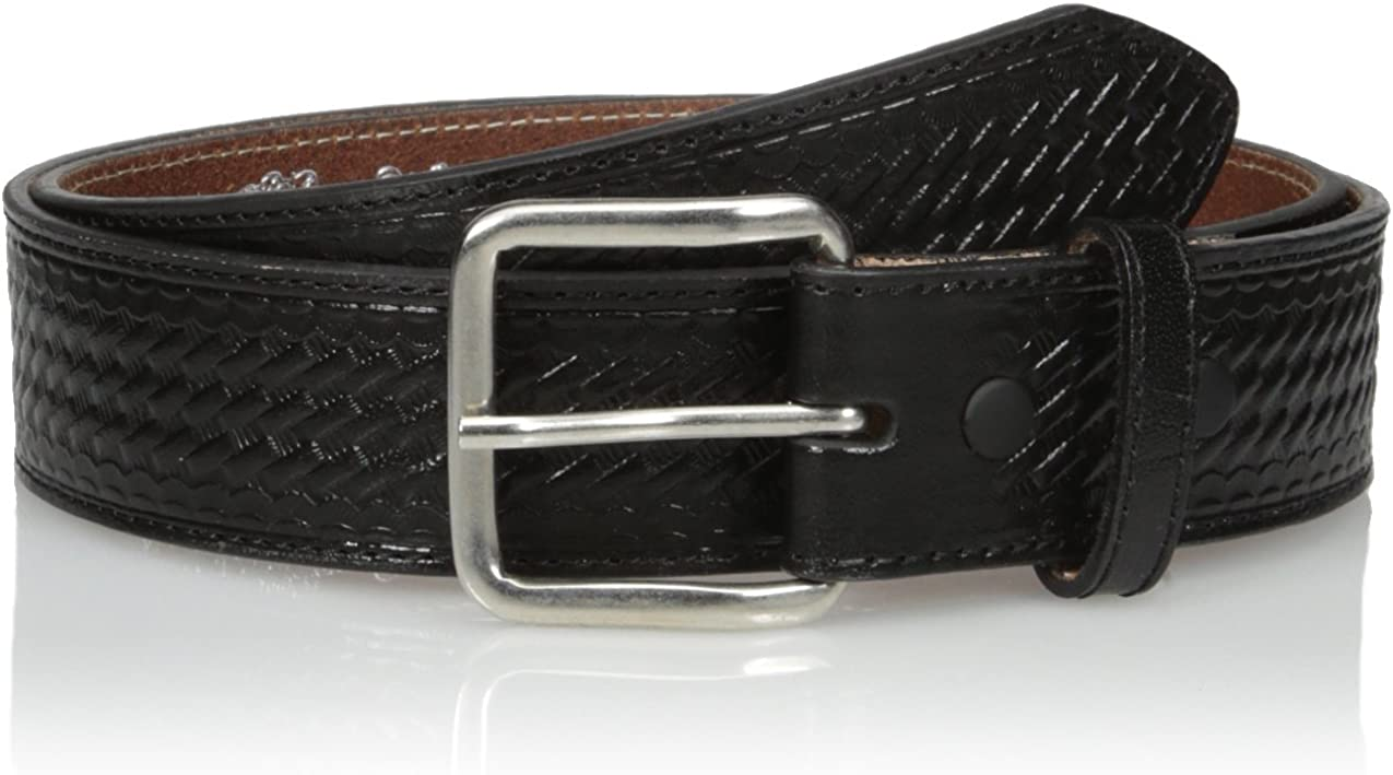 Nocona Mens Black Basket Money Belt