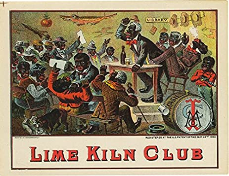 amazon com 20 x 30 poster lime kiln club 1883 black americana