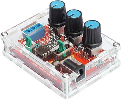 Imagen deKKmoon R2206 Alta precisión Función Señal Generador Kit DIY Seno / Triángulo / Cuadrado Salida 1Hz-1MHz Ajustable Frecuencia Amplitud