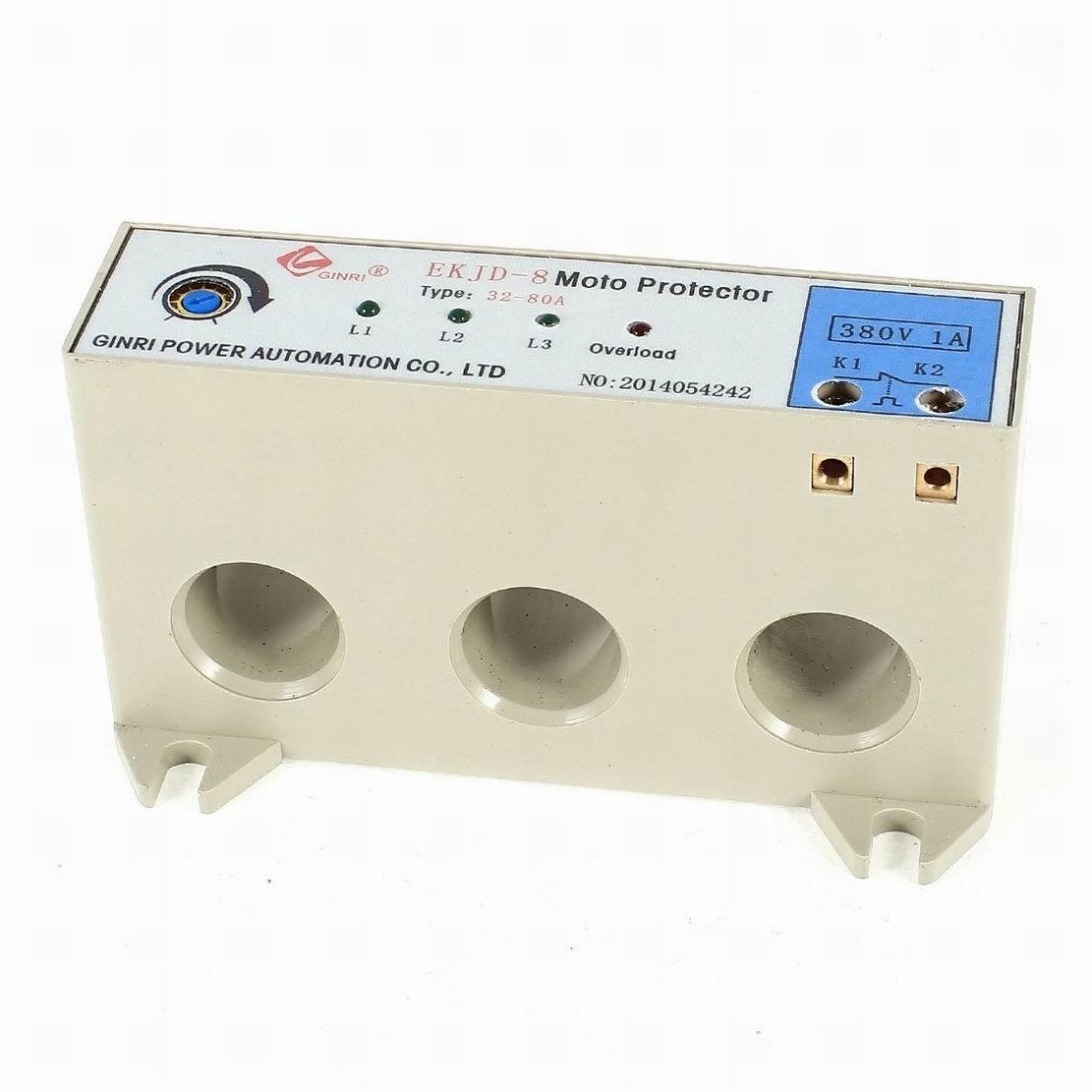 Uptell EKJD-9 3 Phase 32-80A Adjustable Current Motor Circuit Protector