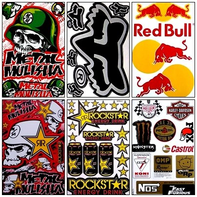 energy drink sticker sheets - 8