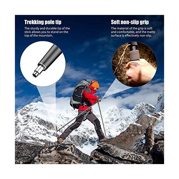 61mvjJcjZjL Bilisder Outdoor Mehrzweck Wanderstöcke Abnehmbarer Trekkingstöcke, Leichter Survival WanderStöcke Unisex mit…