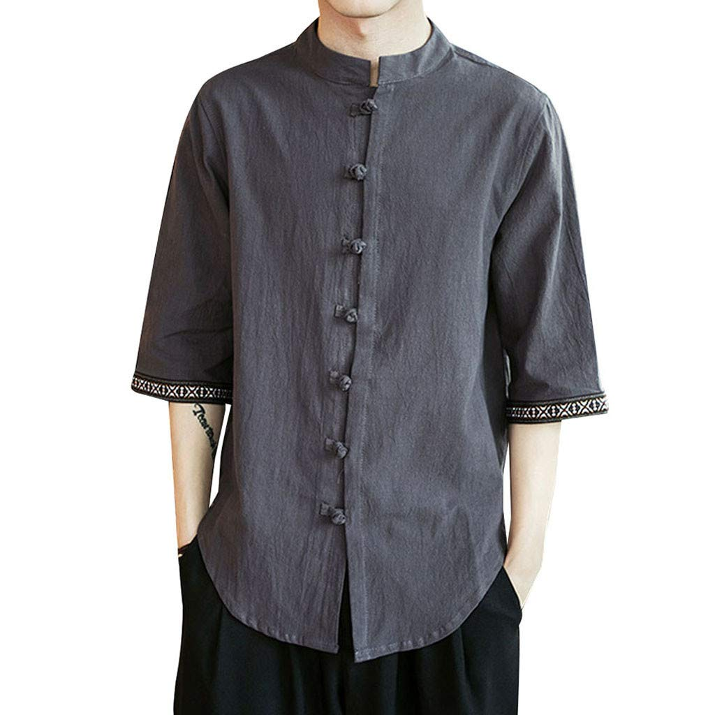 Authentics Men's Authentics Long Sleeve Classic Woven Shirt by Ghazzi Men Top