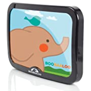 BOOBAALOO Baby Car Mirror - Backseat Mirror for Infant Rear Facing Car Seats - Shatterproof and Double Strap Secure Locking System - Tested for Child Safety
