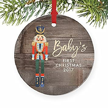 boy babys first christmas ornament 2017 newborn babys 1st gift ideas new baby nutcracker
