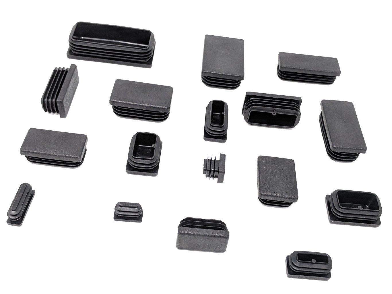 sillas Tapas rectangulares de pl/ástico para colocar en los pies de muebles para puertas de metal aluminio armarios etc