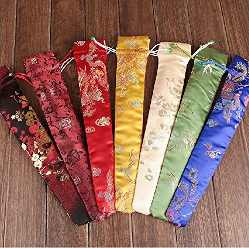 FidgetGear 20 PCS Chinese traditional handmade crafts silk fan bag cover from FidgetGear