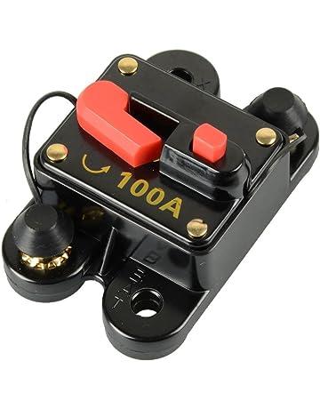 rkurck circuit breaker 60a 80a 100a 150a 200a 250a car audio fuse holder  for trolling motor