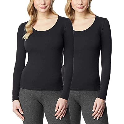 32 DEGREES Ladies' Heat Long Sleeve Scoop Neck Tee 2-Pack at Women's Clothing store