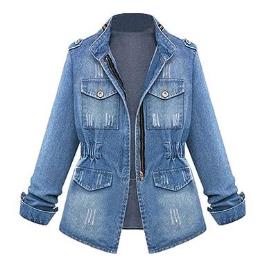 0cd4e31eabd XILALU Vintage Denim Jacket for Women