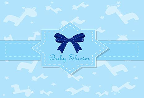Kate 7X5ft (2.2X1.5m) Azul Baby Shower Telones de Fondo Flying Jirafa