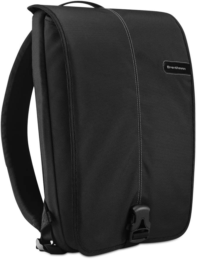Brenthaven Prostyle Slim Pack with Adjustable Straps Fits 15 Inch Chromebooks,Laptops,Tablets for Commercial, Business and Office Essentials–Black,Durable,Rugged Protection from Impact and Compression