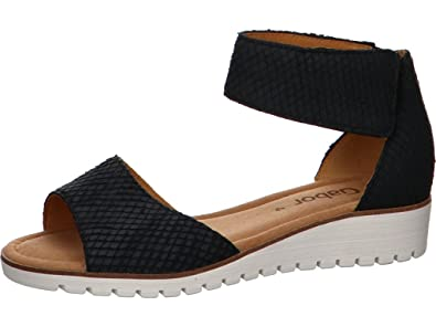 5c0cf389aed1 Gabor Penny 570 - Navy 86 (Leather) Womens Sandals 5.5 UK  Amazon.co ...