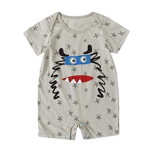 de780875bc717 Mealeaf ❤ NewbornBaby Boy Kids Girls Cartoon Infant Summer Rompers Outfits  Clothes 0