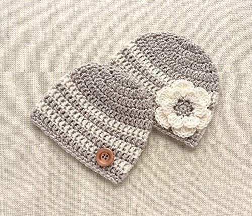 b6a30f0d5 Amazon.com: Twin Baby Gifts Boy And Girl Matching Hats Newborn ...