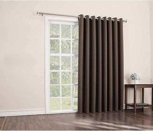 1Pieza 84 Chocolate Color sólido cortina de puerta corredera, Oscuro Marrón puerta de cristal corredera Patio Panel de la puerta ventana solo Panel de tratamiento, ojal de poliéster y cortinas de diseño