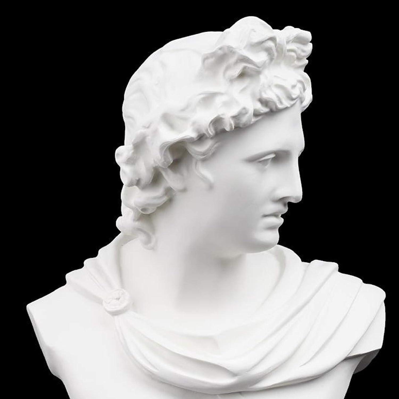 MagiDeal 11,6 Pulgadas Grande Cl/ásico Griego Dios del Sol y la Poes/ía Cabeza Busto Estatua Escultura Romana fFigurita para la Decoraci/ón y Colecci/ón