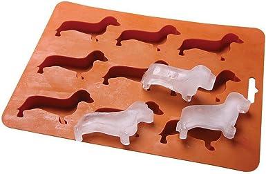 2PC Dachshund Ice Cube Tray Silicone Dog Shape Mold Candy Making Gelatin Settin