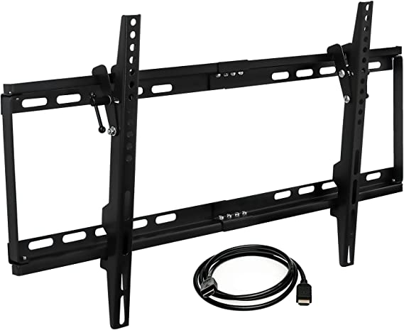 Mount-it! MI-1121M-CBL Slim Tilting TV Wall Mount Bracket Low Profile for Samsung