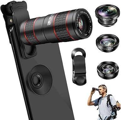 VPKID - Lente para cámara de teléfono móvil (12 aumentos, lente de ...