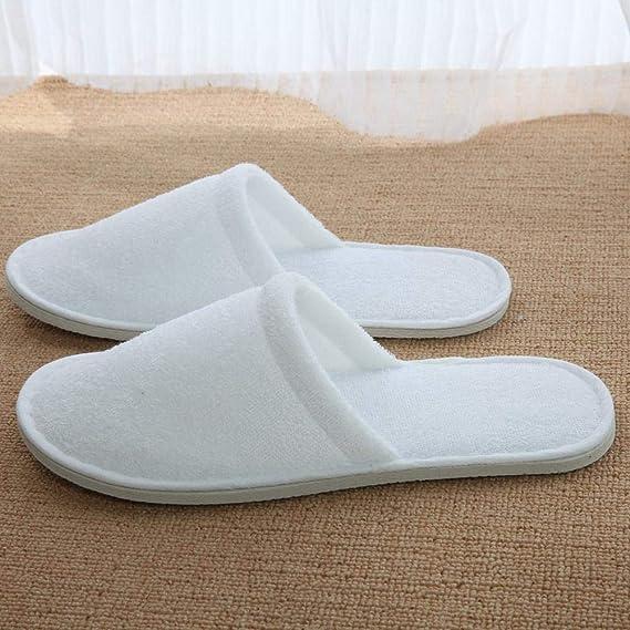10/paires de pantoufles de voyage blanches jetables