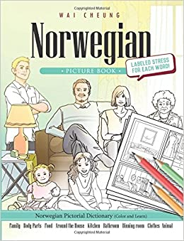 Norwegian Picture Book: Norwegian Pictorial Dictionary (Color and Learn)