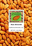 Raw Almonds from California - 10 (1 Lb) Resealable Packages
