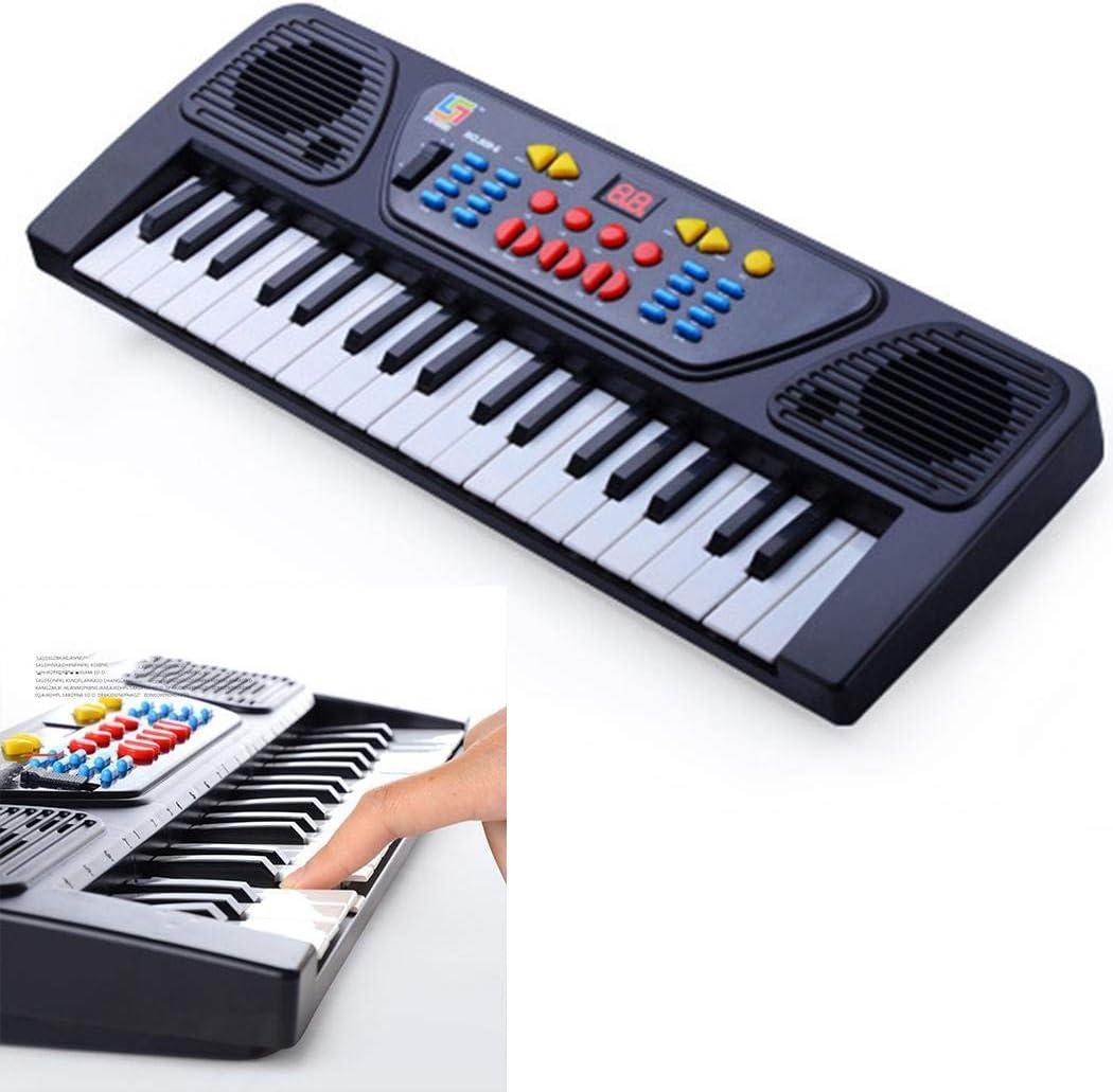 Microphone 37 Keys Digital Music Electronic Keyboard Kids Electric Piano Organ