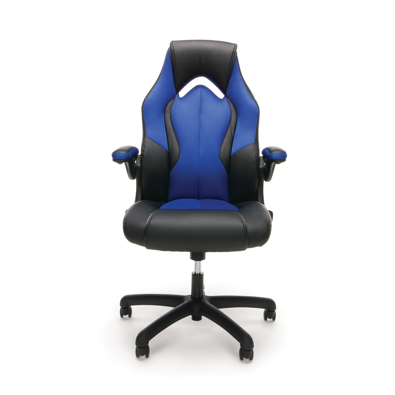 amazon com essentials racing style leather gaming chair ergonomic