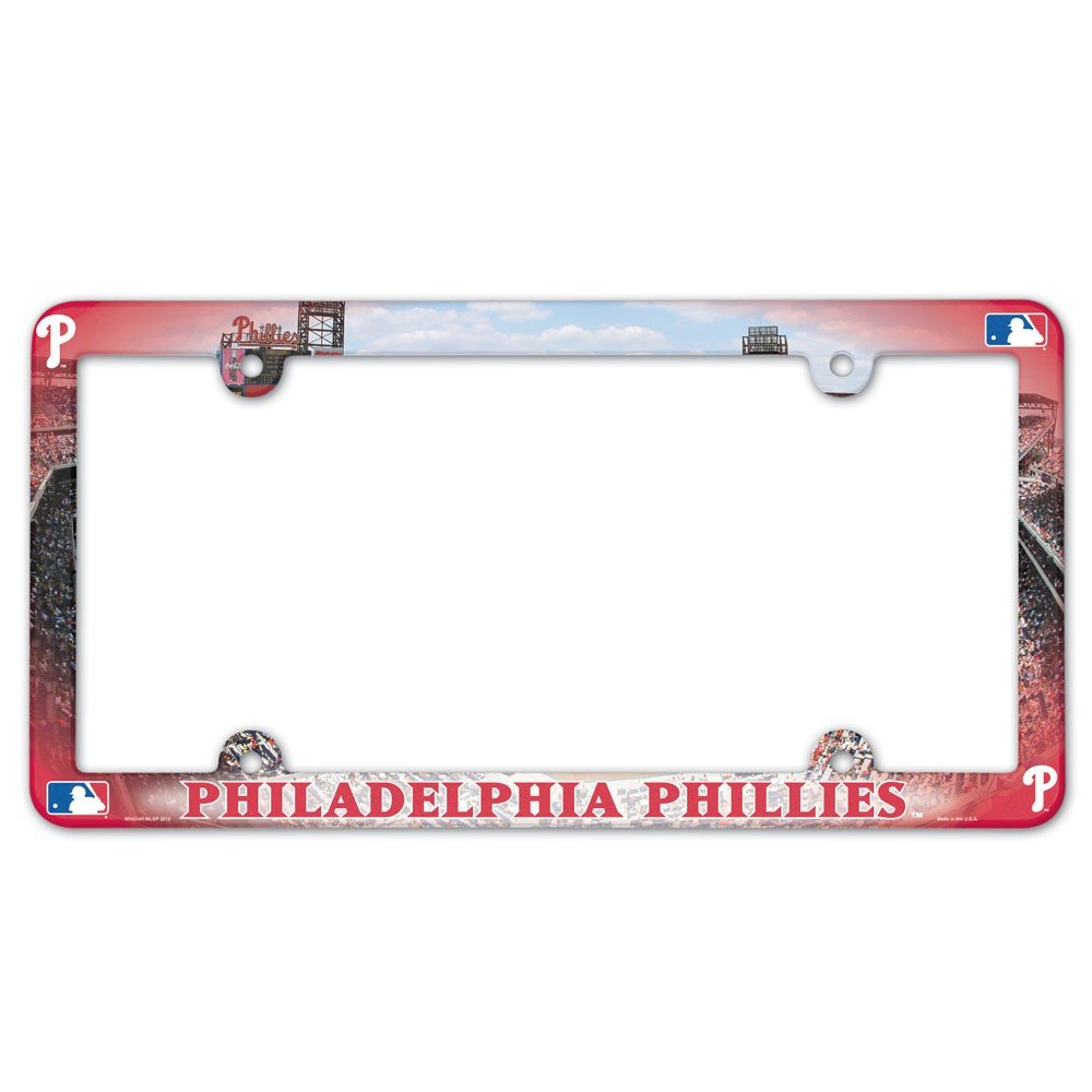 Wincraft Philadelphia Phillies Color Plastic License Plate Frame