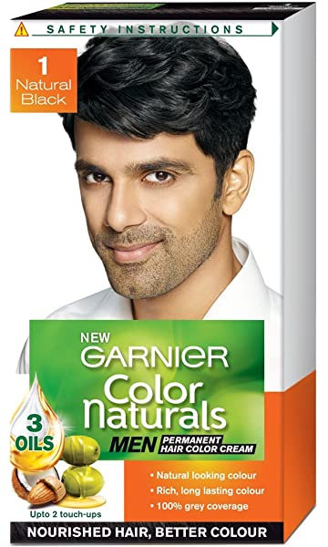 Amazon.com : Garnier Color Naturals - Men Permanent Hair Colour ...