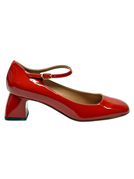 667c9f894b0 L AUTRE CHOSE LDG102VERNICERED Mujer Rojo Cuero de Charol Sandalias ...