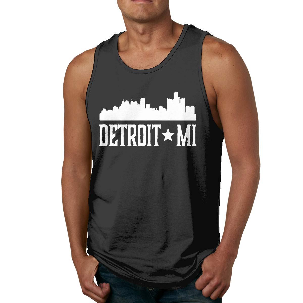 Men Tank Top Loose Detroit Michigan Cotton Cami