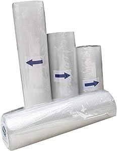 Asteria-Ashley Kitchen Vacuum Sealer Food Saver Storage Bag Fruit Veg Storage Bag,M,Clear