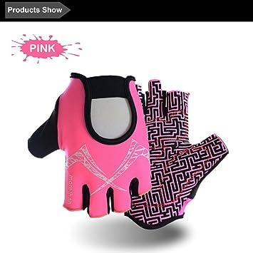 handfly guantes rosas para mujeres Fitness Half Fingers Guantes de deporte Fitness Power Training guantes de
