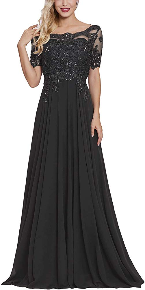 tutu.vivi Womens Lace 1//2 Sleeves Mother of The Bride Dresses 2019 Beaded Long Evening Gown