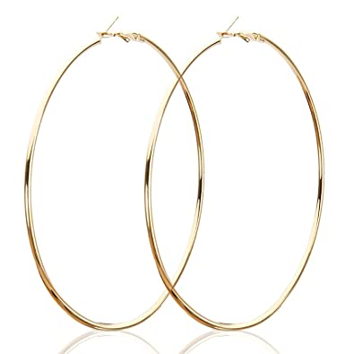 28d807039 Total Fashion Stylish Large Hoop Earrings for Girls and Women-Gold:  Amazon.in: Jewellery