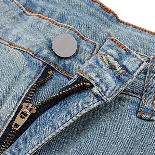 Mezclilla Acogedora De Azul Largos Para Bottom Ligera Sharplace Mujer Vaqueros Picnic Algodón Estampado g8wqaqIUx