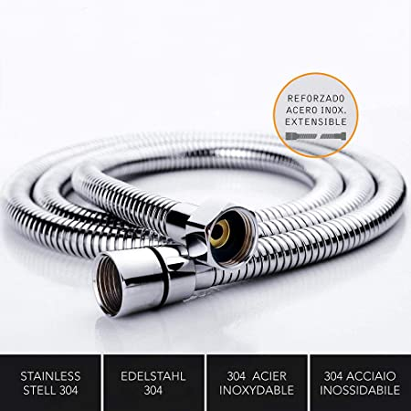 Kibath 190001 Flexo de acero inoxidable para ducha o bañera ...