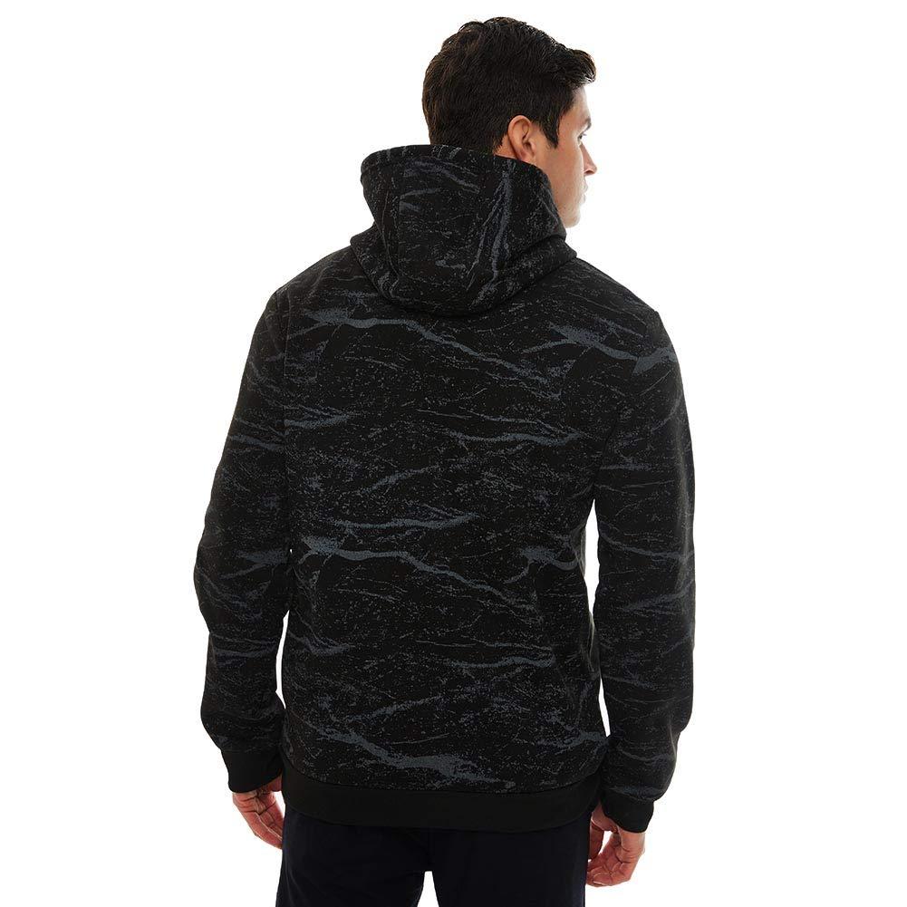 APRAW Mens Casual Pullover Hoodies Rock Digital Printing Sweatshirts Kangaroo Pocket Camouflage