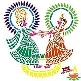 Incredible Gifts India Diwali Rangoli Diy Stencil - Radha Krishna (12' X12' Others)
