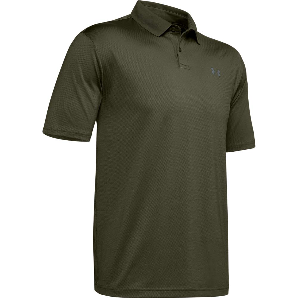Under Armour Men's Performance Polo 2.0, Guardian Green//Pitch Gray, Large by Under Armour