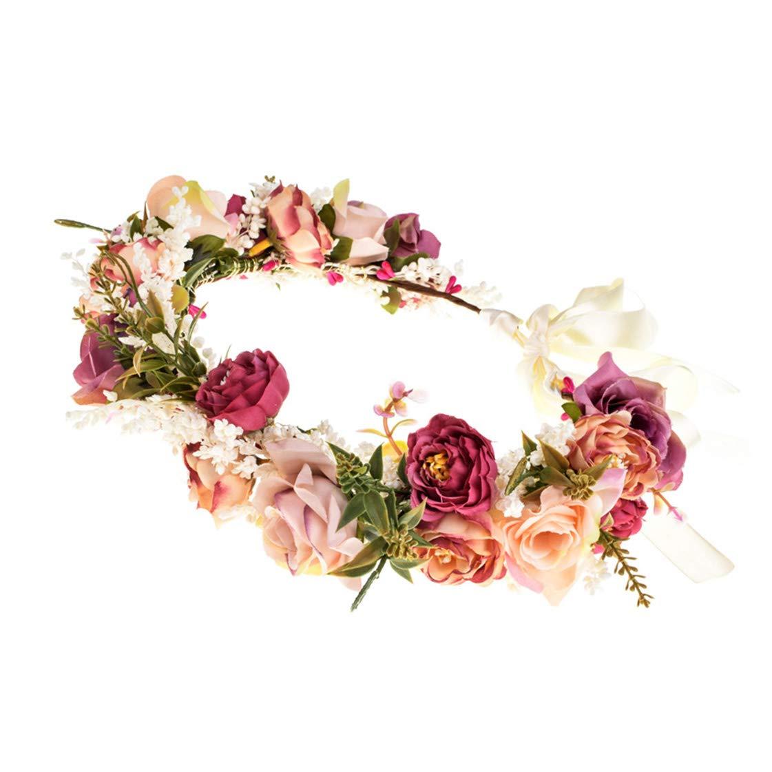 multicolor rose headband