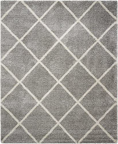 Nourison Brisbane Amore BRI03 Ash Rectangle Area Rug, 8-Feet 2-Inches by 10-Feet 8 2 x 10