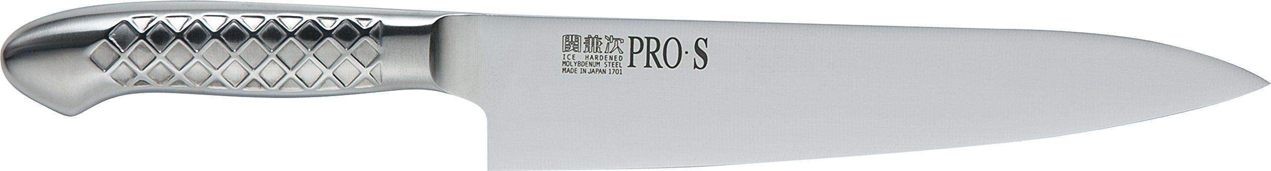 関兼次 Seki Kenji Hamono Japanese Knife Kitchen Knife PRO Molybdenum Steel Stainless Steel Made in Japan (Beef Sword 210mm, PRO · S)