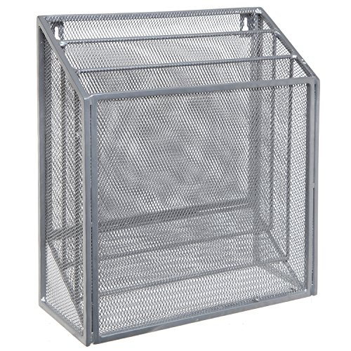Wall Hangings Wall Mounted Silver Metal Wire Mesh 3 Tier
