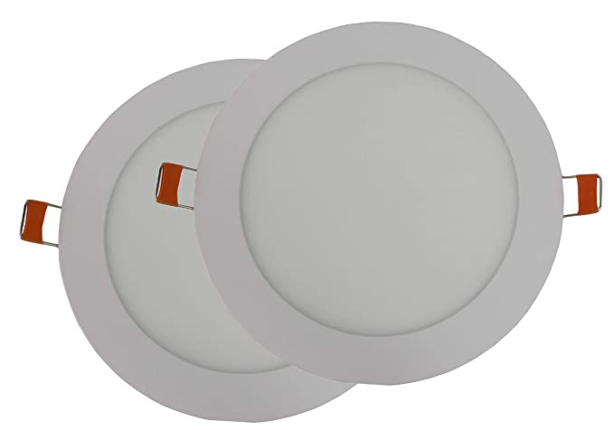 Hothome® RPA6RWW, Pack de 2 unidades Foco Empotrable Led 6W, 120mm 540LM,