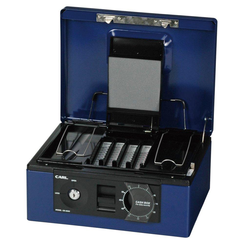カール事務器 手提げ金庫 キャッシュボックス B5 ブルー CB-8660-B B002UKPAD0