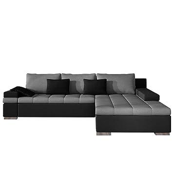 Design Ecksofa Bangkok, Moderne Eckcouch mit Schlaffunktion Bettkasten  Ecksofa für Wohnzimmer Gästezimmer Couch L-Form Wohnlandschaft (Ecksofa ...