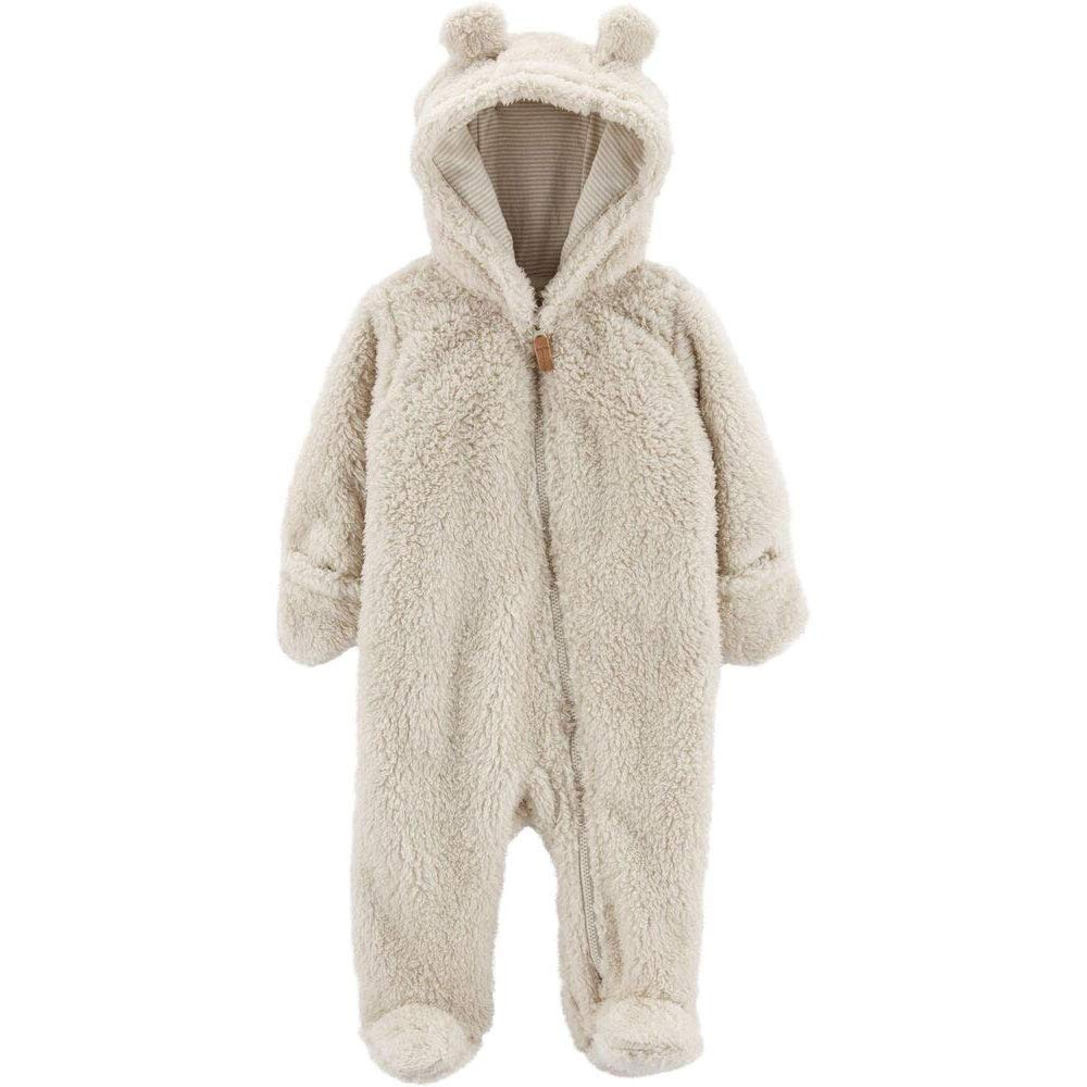 Carter's 0-9 Months Hooded Sherpa Bunting Pram (Oatmeal, 6 Months) by Carter's